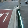 Ecoglo strips used on Pedestrian barrier Druit St Sydney